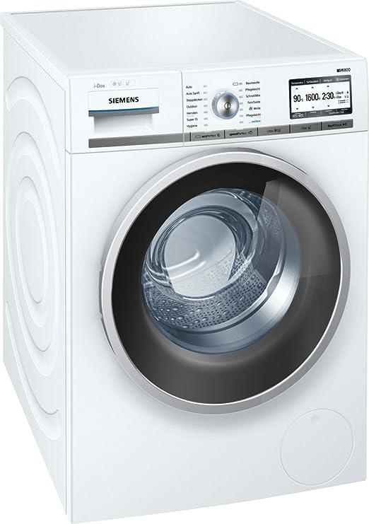 Siemens WM16Y843 - Lavadora (Independiente, Color blanco, Frente, 8 kg, 1600 RPM, A): Amazon.es: Hogar