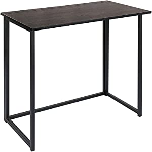 Folding Computer Desk for Small Spaces 31 Inches, Simple Space-Saving Home Office Desk, Foldable Computer Table, Laptop Table, Writing Desk, Compact Study Reading Table (Black)