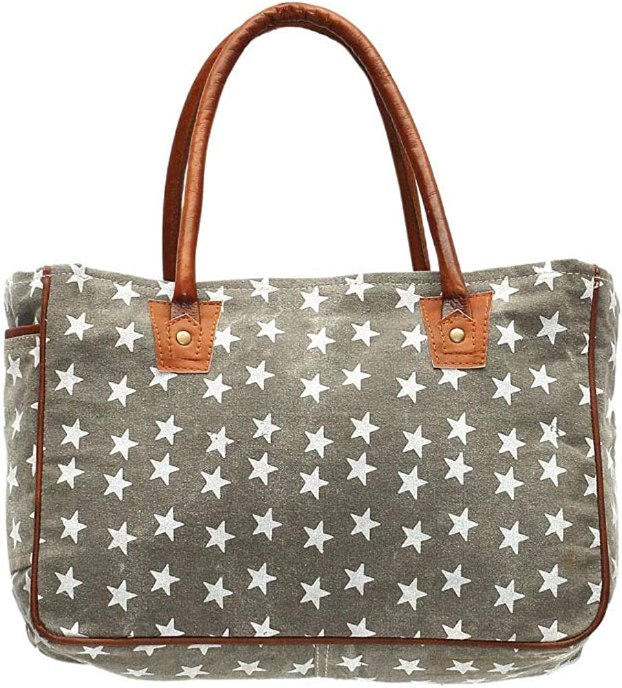 Myra Bags Freedom Stars On Upcycled Canvas Hand Bag S 1048 Clothing Amazon Com Practical yet pretty, these cute makeup bags are the perfect place to stash all of your cosmetics. myra bags freedom stars on upcycled canvas hand bag s 1048