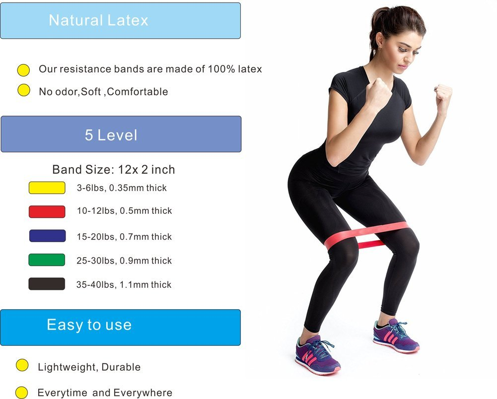 Sports & Entertainment Lower Price with Resistance Bands Rubber Band Workout Fitness Gym Equipment Rubber Loops Latex Yoga Strength Training Athletic Rubber Bands #070 Fitness & Body Building