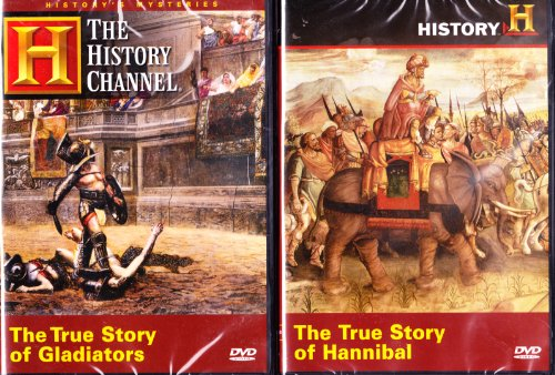 The History Channel : True Story Of Hannibal , True Story Of Gladiators : Ancient Warriors Combo - History Channel Egypt