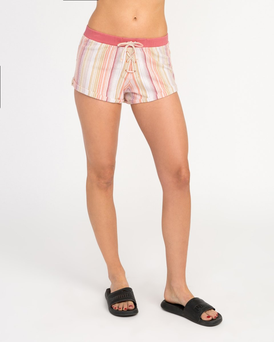 RVCA Junior's Such a Gem Relaxed Fit Short, Horizon Red, L