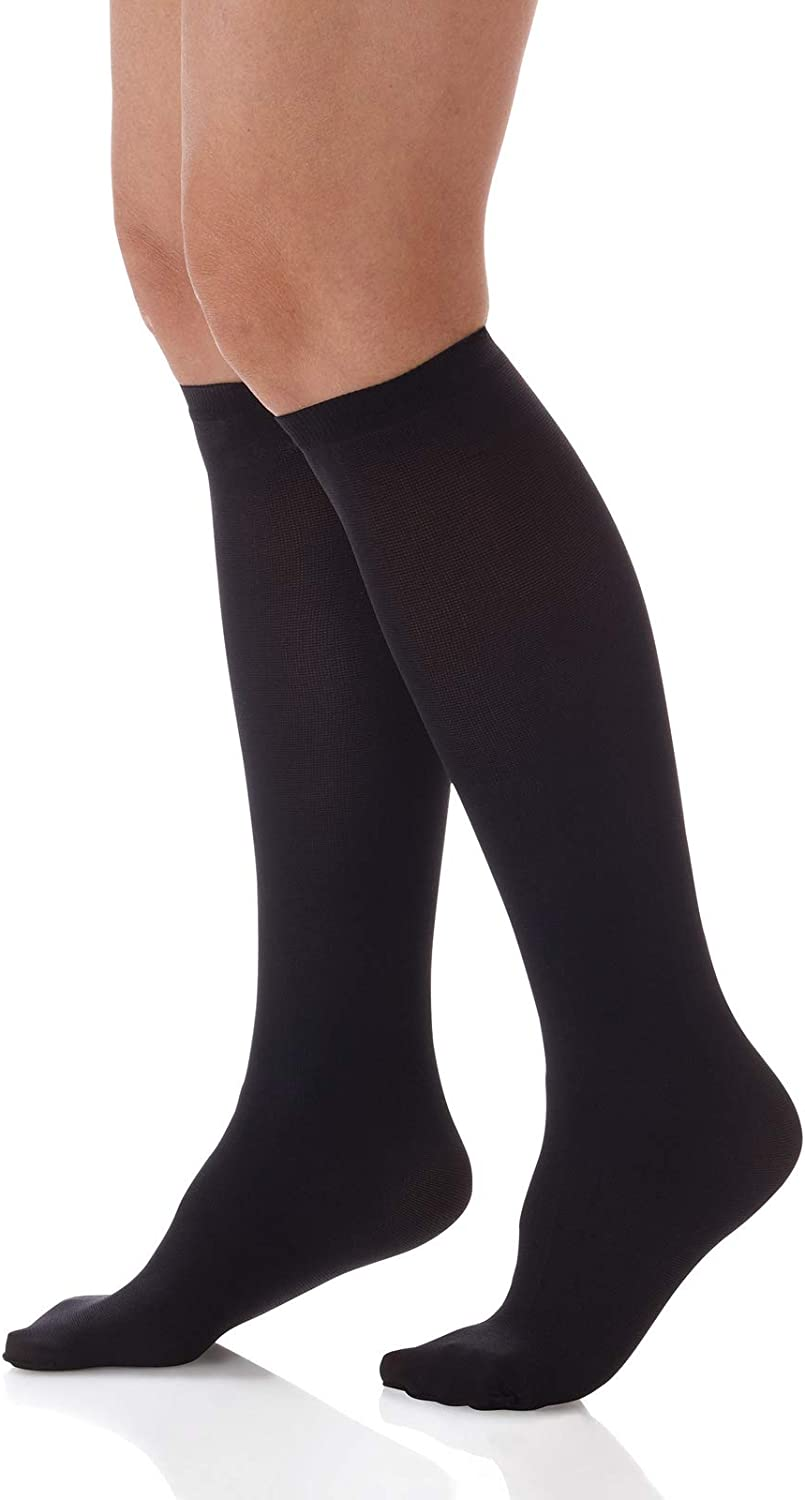 555 Unisex 15-20mmHg Graduated Compression Knee High Stockings A.M.P.S