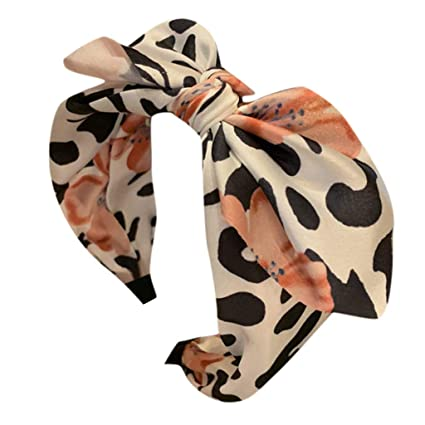 Amazon.com: Ganne Women Leopard Bow knot Bandwidth Turban ...