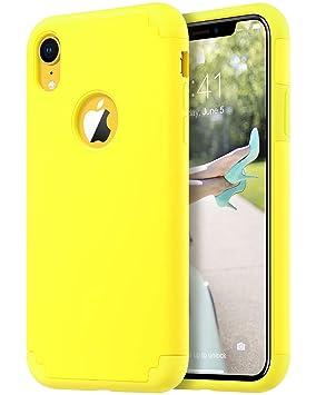 ULAK iPhone XR Funda Carcasa de Doble Capa a Prueba de Choque [Protección de la Gota] Delgado híbrido Impacto Piel Caso Cubierta para el Apple iPhone ...
