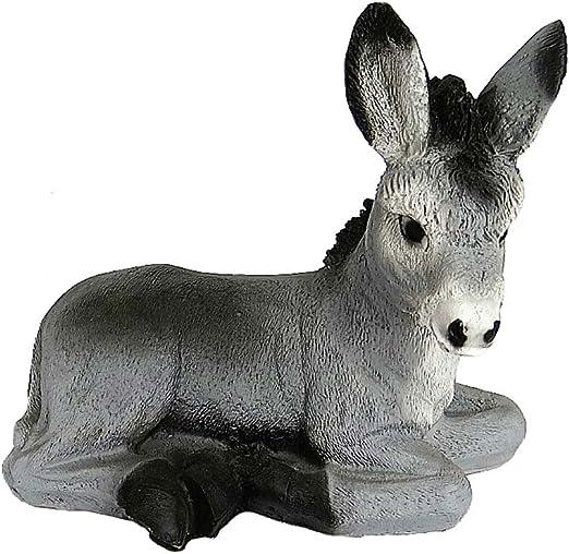Mondo Shop.de Deko Burro sentado Jardín Decoración Animal Figura Figura decorativa para jardín: Amazon.es: Jardín