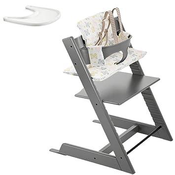Amazon.com: Stokke Tripp Trapp Bundle Set (Storm Grey): Baby