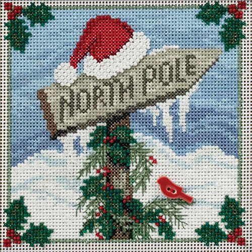 North Pole Beaded Counted Cross Stitch Kit Mill Hill Buttons & Beads 2016 Winter Series - North Hills Stores