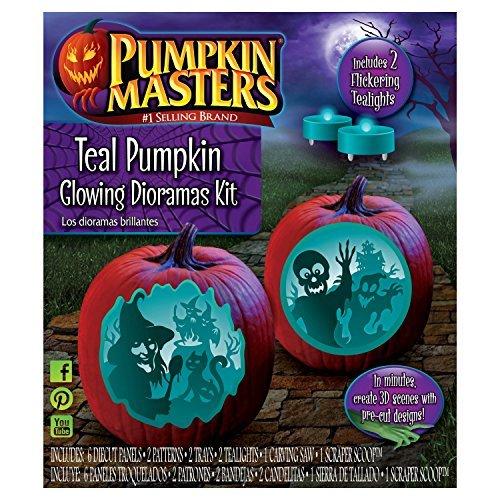 Pumpkin Masters Halloween Pumpkin Teal Decorating Dioramas