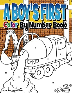 A Boys First Color By Number Book