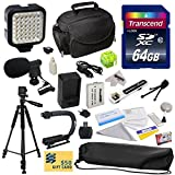 Advanced Accessory Kit for Canon HF R20 R21 R26 R27 R200 R205 R206 HFR20 HFR21 HFR26 HFR27 HFR200 HFR205 HFR206 Video Camera Camcorder Includes 64GB High Speed Memory Card + Card Reader + Power2000 Ultra High Capacity 1300mAh Replacement Battery for the C