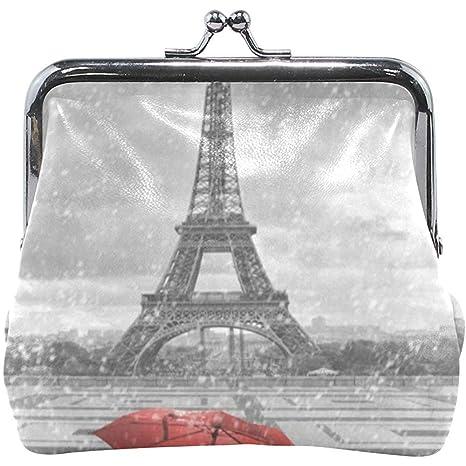 Olive Croft Monedero París Torre Eiffel Paraguas Rojo ...