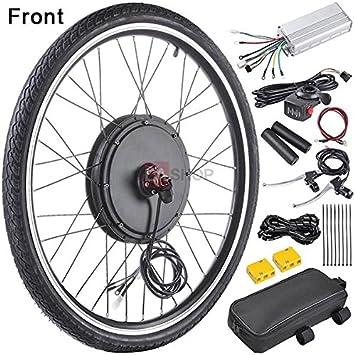 MegaBrand - Kit de conversión de Motor eléctrico para Rueda Delantera de Bicicleta (48 V, 1000 W, 66 cm): Amazon.es: Deportes y aire libre