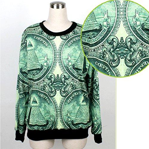 Lovers Dollar Digitale Belsen Stampa T Felpe Shirt Donna zt4vxqT