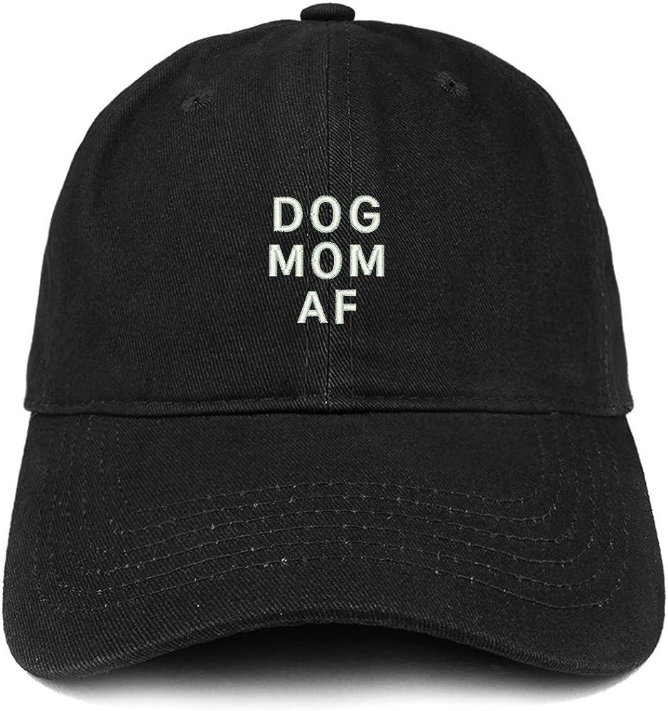 Trendy Apparel Shop Dog Mom AF Embroidered Soft Cotton Dad Hat