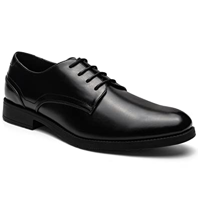 Men's Leather Lined Lace-up Plain Toe Formal Dress Oxford Shoes