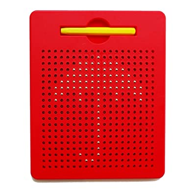 xcivi Free Play Doodle Magnetic Board Magnetic Drawing Tablet (Red): Toys & Games