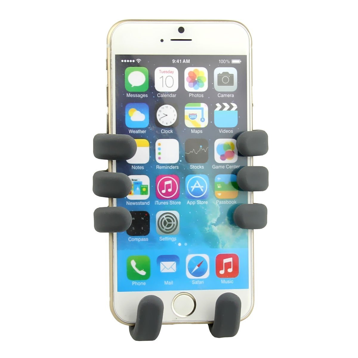 Coolpers Six Armed Monkey Phone Stand And Air Vent Car Cd Writer 8211 How The Burner Works Portable Adjustable Holder From 35 To 52 For Iphone 6 Samsung Galaxy S6 Black Cell