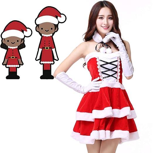 FAFY Navidad Disfraz De Señorita Santa para Mujer De ...