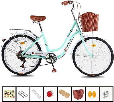 ZXLLO Bicicletas para Adultos para Mujeres Bicicleta De Ciudad 26 ...