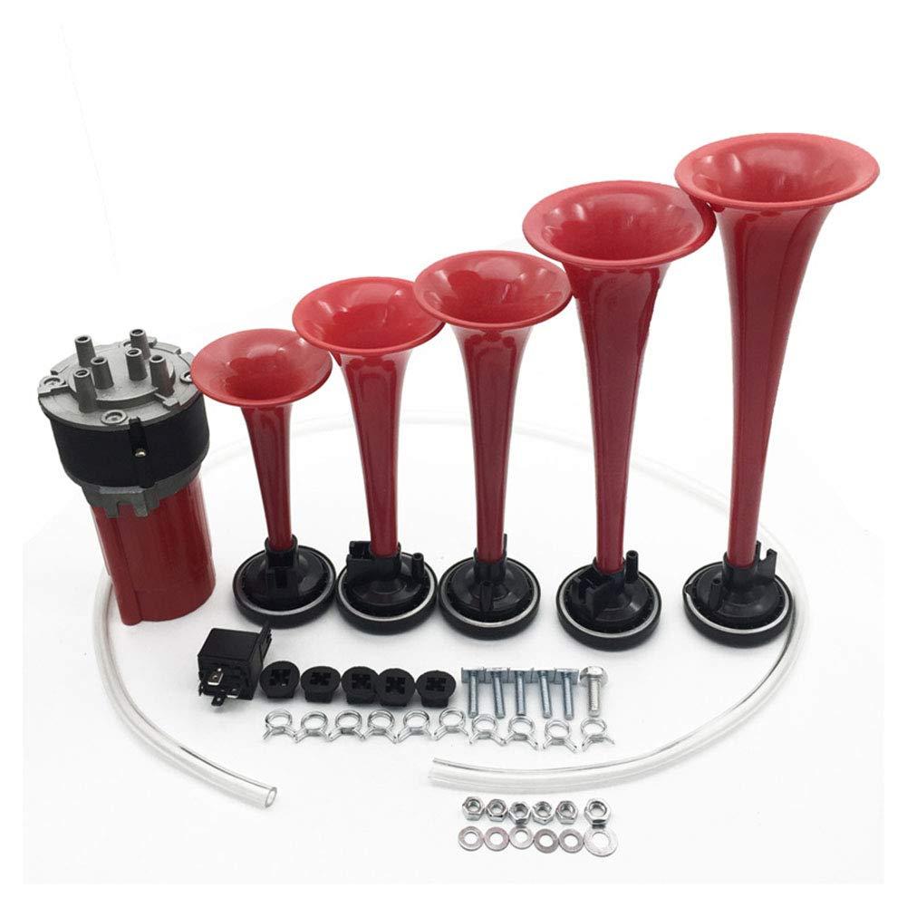 5x Trumpet 12V 125DB DIXIE Musical Air Horn Compressor Dukes of Hazzard Car Bus