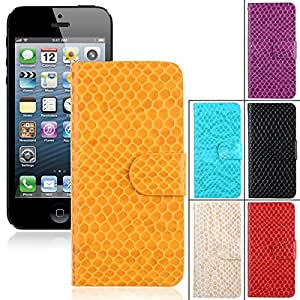 PU Leather Wallet Patern Protective Case Cover Credit Card Holder for iPhone 5 / 5S