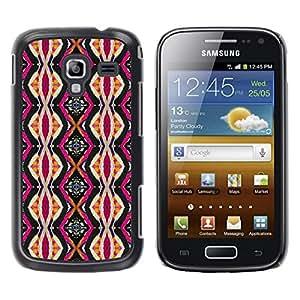 Be Good Phone Accessory // Dura Cáscara cubierta Protectora Caso Carcasa Funda de Protección para Samsung Galaxy Ace 2 I8160 Ace II X S7560M // Ethnic Culture Pink Vertical