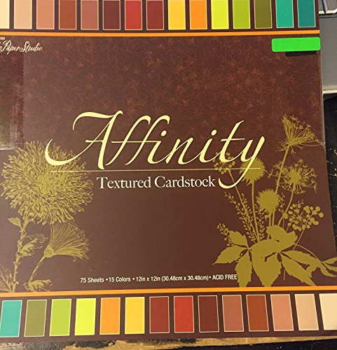 Affinity Textured Solid Cardstock Double-sided 12x12 Inches, 75 Sheets (Textured Cardstock Solid)