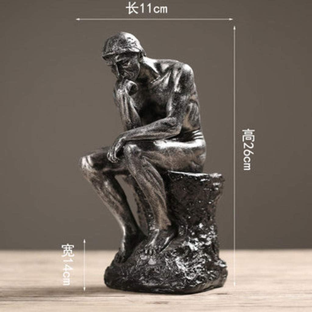 BEIGOO Escultura Pensador Creativo,Moderno Decoraci/ón Estatua Decoracion Retro Resina Hecha A Mano Sala De Estar Regalo De Oficina-A