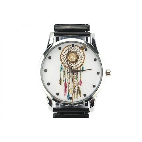 Michael John – Reloj Mujer Acero y negra Ethnic Pampa