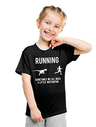 eee970af Youth Running Motivation T shirt Funny Running T shirts Sarcasm Humor Run  Novelty Tees (Black