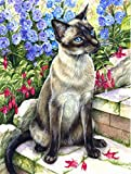 Cheap Caroline's Treasures CDCO0026GF Siamese cat in The Garden Flag, Small, Multicolor