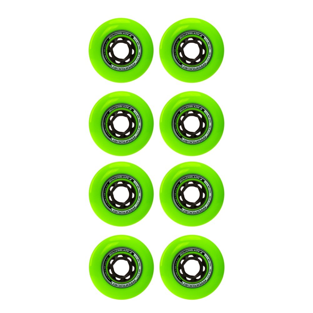 Rollerblade Hydrogen Urban 80mm 85A (8 Pack), Green, One Size