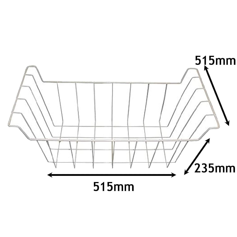 Spares2go - Cesta de alambre para congelador Ignis (235 x 515 x ...