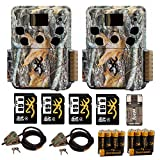 Two Browning Dark Ops HD Pro Trail Cameras (BTC-6HDP) + Cable Lock, 4 Memory Cards, Focus Reader and Batteries