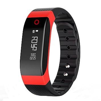 Reloj Inteligente,Xinan H4 Bluetooth del Ritmo Cardíaco Relojs Elegante Monitor Deportes (Rojo): Amazon.es: Electrónica