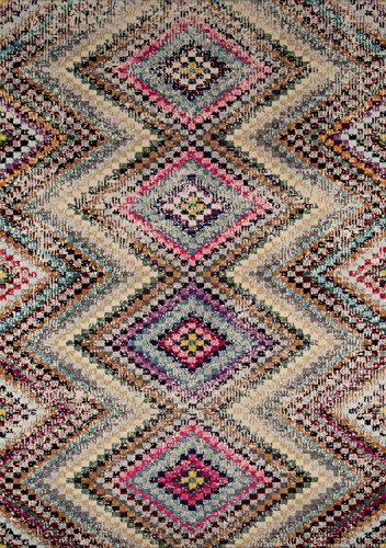 Momeni Rugs CASABCAS15MTI2030 Casa Collection Soft Blend Contemporary Area Rug, 2' x 3', Multicolor