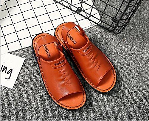 Size in confortevole 44 Bianca Open Uomo Arancia 43 Outdoor Slipper progettato Summer Colore Shoes pelle dimensioni vera 39 Beach esterno antiscivolo Sandalo morbido Toe x6wTUAqTv
