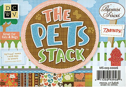 Diecuts With A View Pets 4-1/2 Inch by 6-1/2 Inch Mat Stack