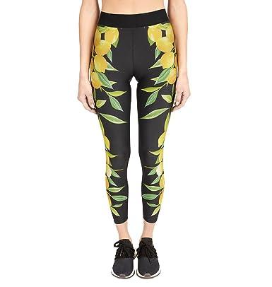 Pantalones Yoga Mujeres, Yusealia Cintura Alta Impresión de ...