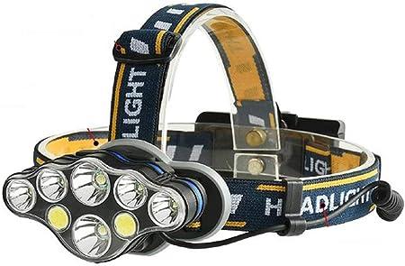 Diadema de Linterna Correa de Linterna Negro Linterna Correa de Cabeza de Linterna LED Linterna de Manos Libres Linterna de la Cabeza para 18650 Linterna Herramientas al Aire Libre