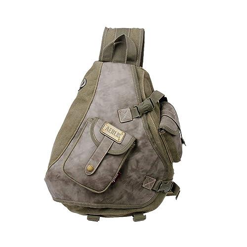 """Vintage Canvas Handbag Shoulder Bag School Bag Travel Backpack 14/"""" Laptop Case"""