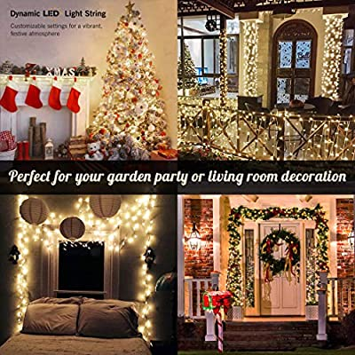 Warm White Fairy String Lights, Indoor String Lamps 30V UL Certification 66FT 200 LED Bulbs Pure Copper Material Wedding Party Christmas Home Garden Decoration (66, Warm White) : Garden & Outdoor