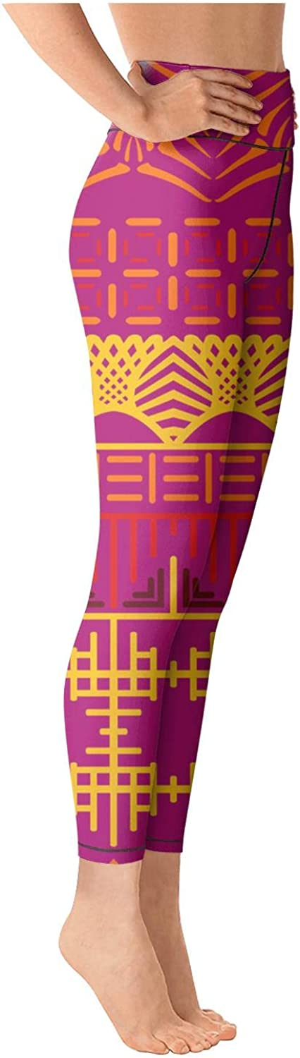 Womens Yoga Pants Legging Sports Red Bohemian Style Comfortable for Workout Riding Running