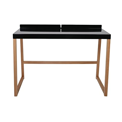 Eckschreibtisch schwarz holz  Designer Schreibtisch 'CubaNova' Schwarz / Holz - Maße 111x56x78 ...