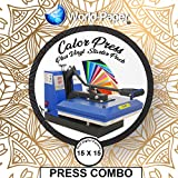 Heat Press Machine 15'' x 15'' Clamshell Manual Press, Sublimation, HTV, Transfer Paper FREE 19 10x12 Vinyl Sheets