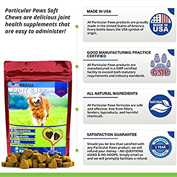Glucosamine For Dogs - Treats - Joint & Hip Formula With Msm, Chondroitin & Hyaluronic Acid - 65 Soft Chews 6