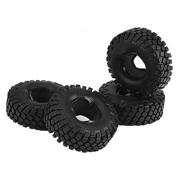Dilwe 2 Tipos 4Pcs/Set Llantas de Goma Rueda de Esponja Interior Ruedas para HSP HPI RC Crawlers Coche(AX-5020): Amazon.es: Juguetes y juegos