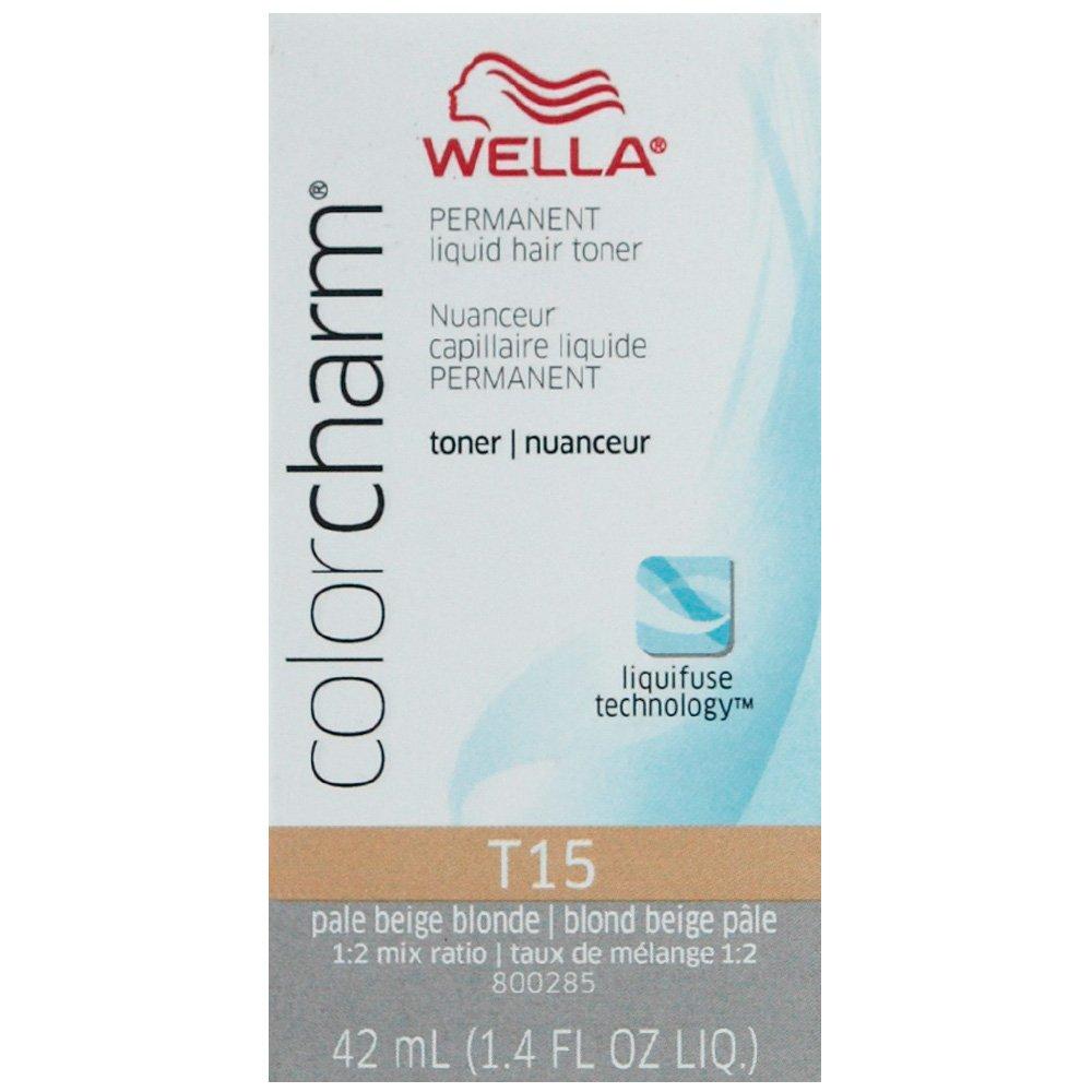Wella Color Charm Permanent Liquid Hair Toner - T15 Pale Beige Blonde