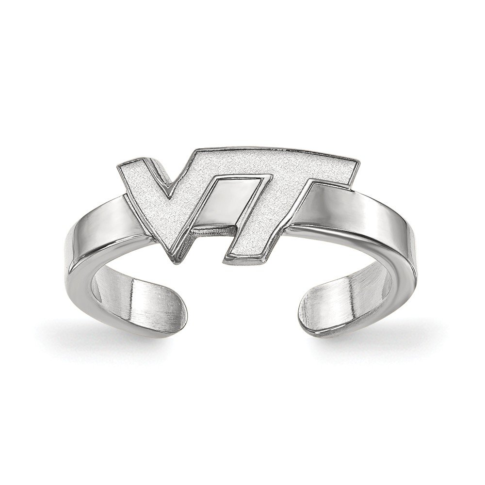 Solid 925 Sterling Silver Virginia Tech Toe Ring
